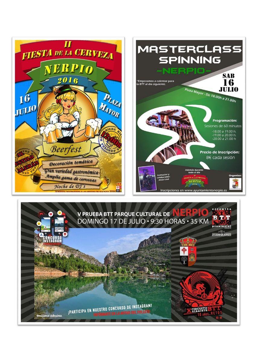 Spinning, BTT y Fiesta de la Cerveza en Nerpio
