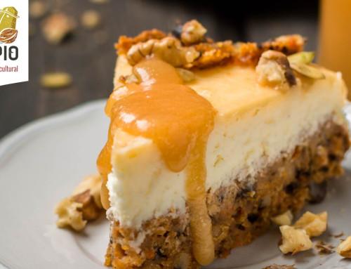 Tarta de queso, nueces y miel